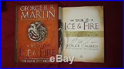 George R. R. Martin The World of Ice & Fire Signed Book Game of Thrones 1/1 HC