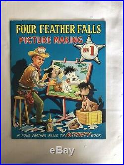 Gerry Anderson Four Feather Falls Picture Making Activity Book