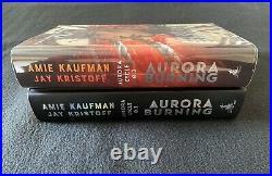 Goldsboro Exclusive Aurora Burning SIGNED SPRAYED New Jay Kristoff Amie Kaufman