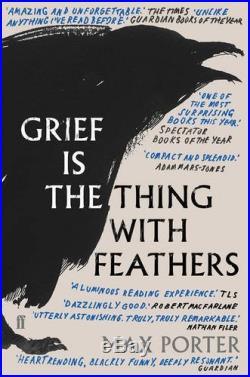 Grief is the Thing with Feathers by Max Porter Book The Cheap Fast Free Post