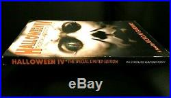 HALLOWEEN 4 Special Limited Edition BOOK Novel MICHAEL MYERS Grabowsky OOP RARE