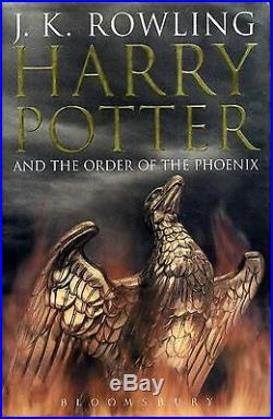 HARRY POTTER AND THE ORDER OF THE PHOENIX 2003 J. K. Rowling HARD COVER BOOK