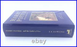 HARRY POTTER and The Goblet Of Fire UK Deluxe ED. 1ST ED JK Rowling SEALED