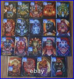 HORROR LOT (Orlando Arocena Artwork W coloring books complete set 19 DVDS) NEW
