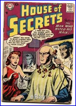 HOUSE OF SECRETS #5-DC 1957-Shaved head cover-comic book