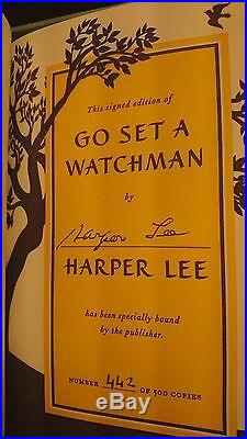 Harper Lee Go Set A Watchman Signed Book Limited Edition Collectors Box Numbered