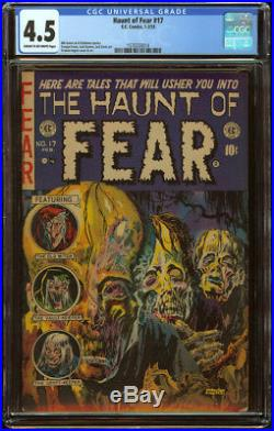 Haunt of Fear #17 CGC 4.5 C/OW Pgs Skeleton Zombie Cover Precode Horror GA Book