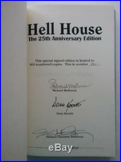 Hell house by Richard Matheson (25th Anniversary LTD Edition) Signed #161