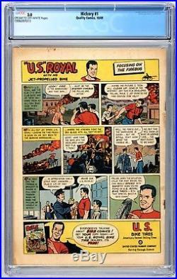 Hickory #1 CGC 3.0 Tough Book Harry Sahle 1949 Quality Comics