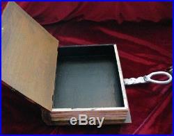 Hocus Pocus book of spells- wooden hideaway book box. Sanderson Sisters, horror