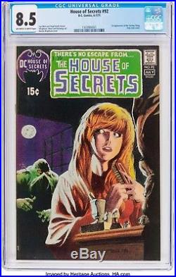 House of Secrets #92 CGC 8.5 1st app appearnce of Swamp thing Hot book owithw 92