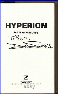 Hyperion & The Fall of Hyperion Dan Simmons HC 1sts 1989/1990 Signed + free book