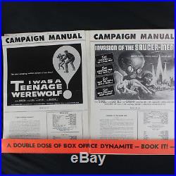 I was a Teenage Werewolf / Invasion of Saucer-Men Horror/Sci-Fi Press Kit Book