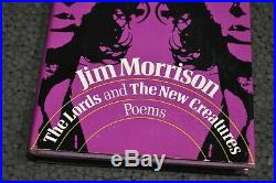 JIM MORRISON THE LORDS and THE NEW CREATURES BOOK 1st Edition Extremely RARE