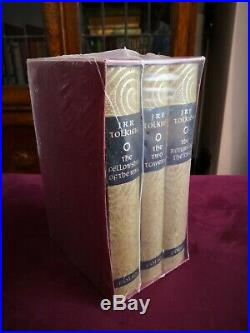 JRR Tolkien Lord Of The Rings Trilogy Hardback Book Set Folio Society NEW