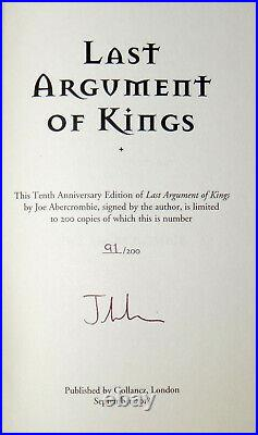 Joe Abercrombie The First Law Trilogy Book 2 and 3 UK Signed Numbered Hardcover