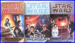 Large Lot 62 Star Wars PB Books Zahn Thrawn X-Wing Trilogies See Complete List
