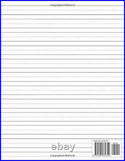 Lined paper for handwriting practice N by Michelle Notebooks New Paperback Book