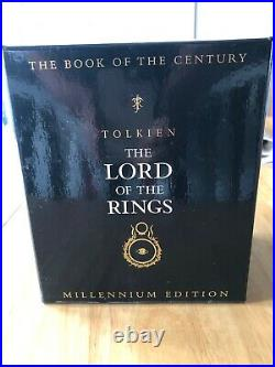 Lord Of The Rings Millennium Edition J R R Tolkien Boxed Set Book of the Century