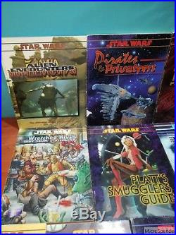 Lot of 10 West End Star Wars RPG Books Platts Smugglers, Pirates Privateers, +