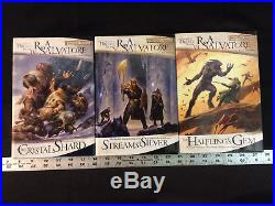 Lot of 13 R. A. Salvatore Forgotten Realms Legend of Drizzt Books 1-13 1st Prints