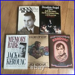 Lot of 24 Jack Kerouac Poetry Books Clippings Beat Generation 1st Cassiday WOW