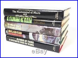 Lot of 5 John Carter of Mars by Edgar Rice Burroughs Books Book Club Edition