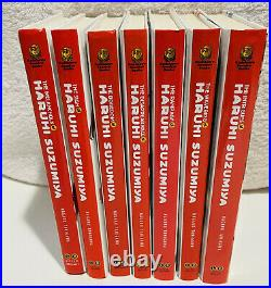 Lot of Haruhi Suzumiya Light Novels Hardcover (Books 1-7)Rare American Version