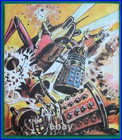 MEGA-RARE Dr Doctor Who's Space Adventure Book 1967. VGC, with some cards