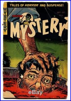 MISTER MYSTERY #13 comic book PCH pre-code horror DISMEMBERMENT GRAPHIC