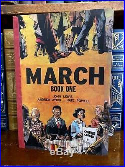 March Book One HAND SIGNED by Representative John Lewis +2! Civil Rights Icon
