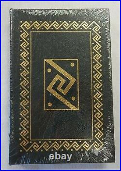 Michael Crichton Signed Andromeda Strain Leather Hardcover Book Easton Press