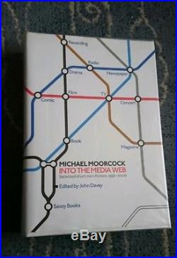 Michael Moorcock Into the Media Web Savoy Books RARE SIGNED