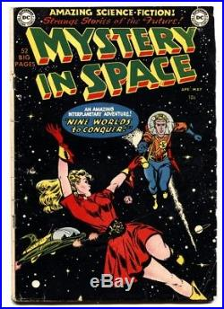 Mystery In Space #1 comic book 1951 DC-Science-Fiction-Frank Frazetta