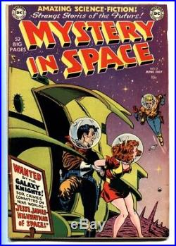 Mystery In Space #2 comic book 1951 DC-Science-Fiction-Knights of the Galaxy