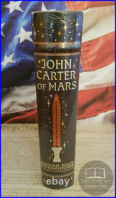 NEW SEALED John Carter of Mars by Edgar Rice Burroughs Bonded Leather Edition