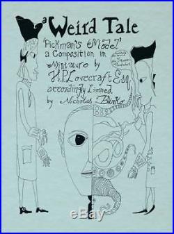 NICK BLINKO Pickman's Model Ltd Ed BOOK Rudimentary Peni H. P. Lovecraft RARE