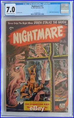 NIGHTMARE 12 CGC 7.0 0330651011 Scarce Horror book on St. John's 1954