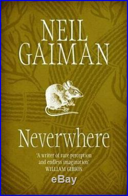 Neverwhere by Neil Gaiman Paperback Book The Cheap Fast Free Post