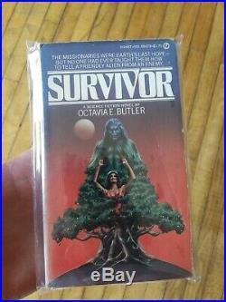 Octavia E. Butler Vintage Paperback Book Lot Survivor, Kindred & Clay's Ark VG+