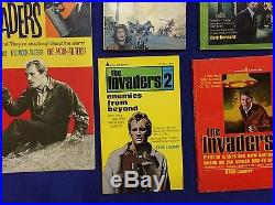 Original 1967 Invaders TV Show Aurora flying saucer model kit comic book lot