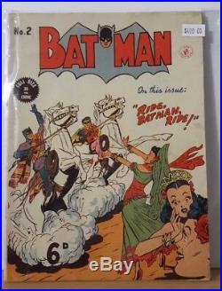 Original Vintage Batman Comic Book Number 2 Ride Batman Ride Colour Comics