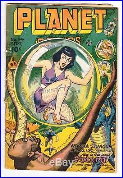 PLANET COMICS #44 1946 sci-fi comic book Murphy Anderson Futura, Auro