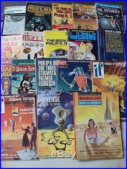 Philip K Dick 13 Vintage Novels 5 Digest Softcover Early Vintage 1960 Sci Fi Pkd