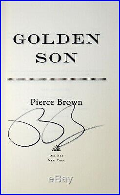 Pierce Brown SIGNED Golden Son Advanced Uncorrected Proof VERY RARE Red Rising 2