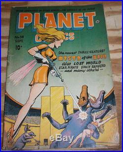 Planet Comics #38 comic book very good 4.0