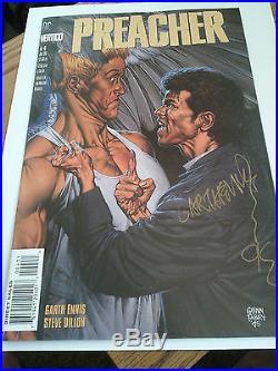 Preacher No. 4 Comic Book Autographed Garth Ennis 95 Very Fine Near Mint