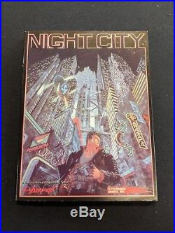 RARE NIGHTCITY CYBERPUNK 2020 MANUAL BOOK With MAP, R. Talsorian Games