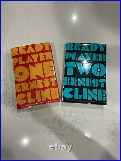 READY PLAYER ONE & TWO ERNEST CLINE SIGNED SPRAYED Color NUMBERED Book 1st Print
