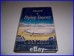 Rare Autographed 1958 Aboard A Flying Saucer Book Signed By Truman Bethurum Ufo
